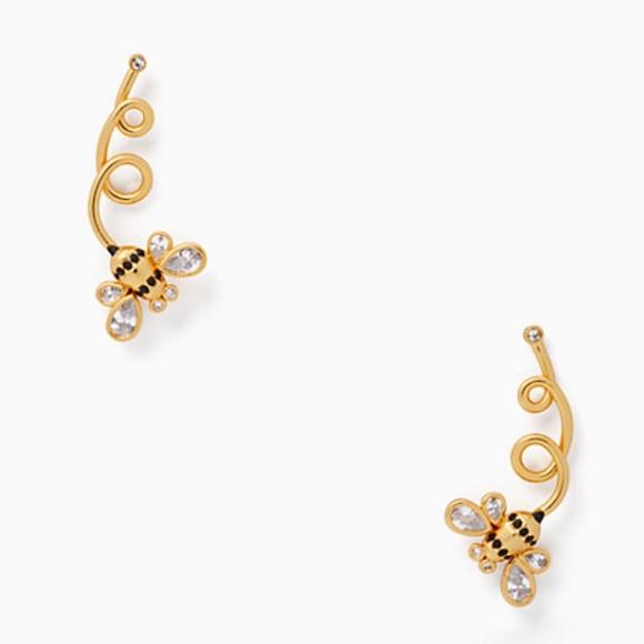 Kate Spade earrings gold bee earrings